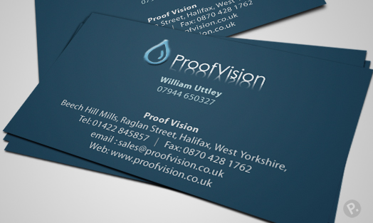 Proof Vision business card design