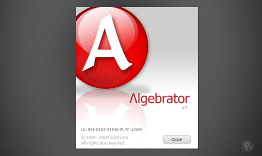 Algebrator interface design