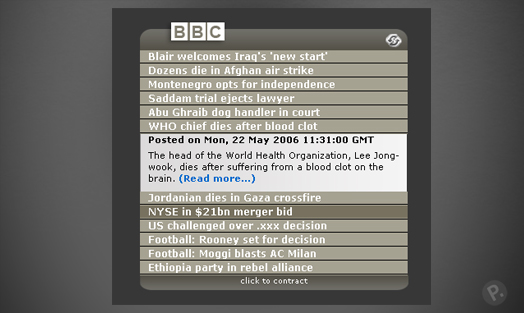 BBC - Opera Widget design