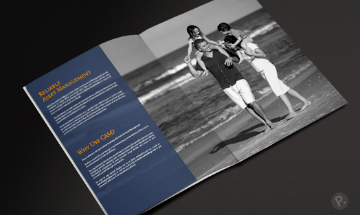 CAM brochure design