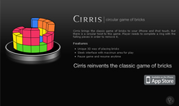 Cirris - Circullar game of Tetris for iPhone & iPod touch